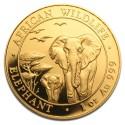 Somalia Elephant, African Wildlife, 1oz Gold, 2015