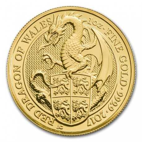 Queen's Beasts Dragon, 1 oz. Gold, 2017
