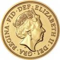 Full Sovereign Elizabeth, Gold, 2017