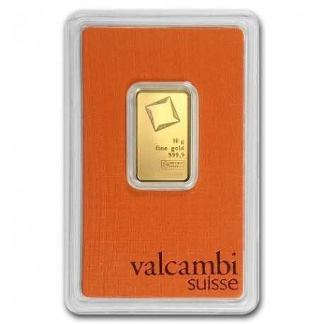 10gr Gold Bullion/ Bar Valcambi