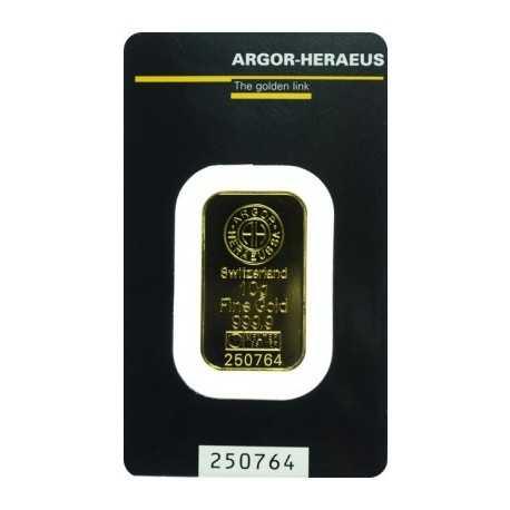 10gr Gold Bullion / Argor Heraeus