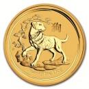 Lunar Dog, 1/4oz Gold, 2018