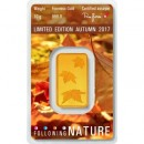 10gr Gold Bullion/ Bar Heraeus Autumn