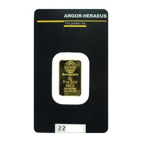 5gr Gold Bullion / Argor Heraeus