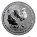 Lunar Rooster, 1/2 oz. Silver, 2017