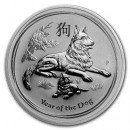 Lunar Dog, 1 oz. Silver, 2018
