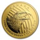 Canadian Golden Eagle 99999, 1oz Gold, 2018 ( Assay card)