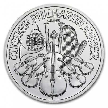 Austrian Vienna Philharmonic 1oz. Silver, 2017-2018