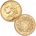 Swiss Gold 20 Francs Helvetia 1927-1949