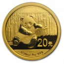 China Panda, 1/20 oz Gold, 2014