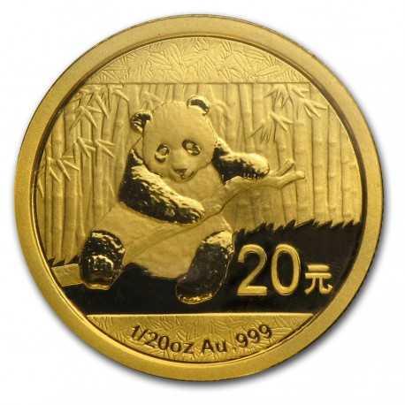 China Panda, 1/20 oz Gold, 2014