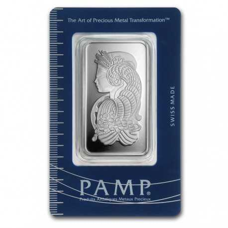 50 g.  Silver Bar - PAMP Suissi Fortuna