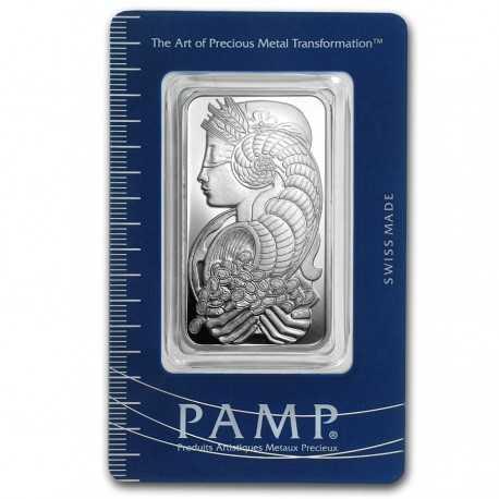 1oz. Silver Bar - PAMP Suisse Fortuna