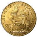Gold France 20 Francs Rooster BU  (1902-1914)