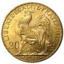 Gold France 20 Francs Rooster BU  (1902-1914)