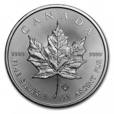 Maple Leaf  5 Dollars 1 oz  Silver - 2017