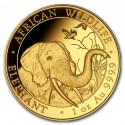 Somalia Elephant African 1 oz 2018 Gold