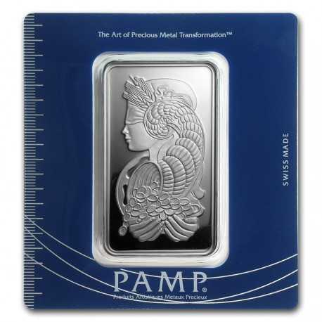 100 gr Silver Bar - PAMP Suisse Fortuna