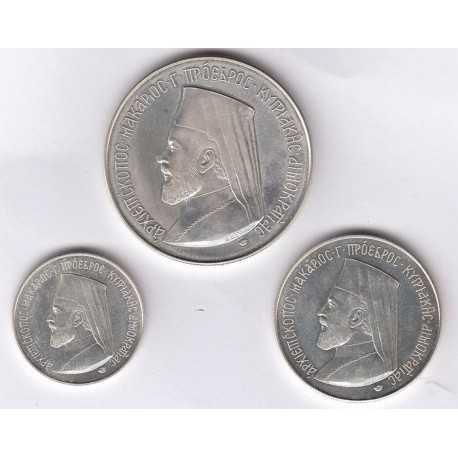 Archbishop Makarios 1oz 1/2 oz 1/4 oz Silver(set)