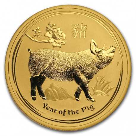 Australia Lunar Pig  1 oz 2019 Gold (Series II)