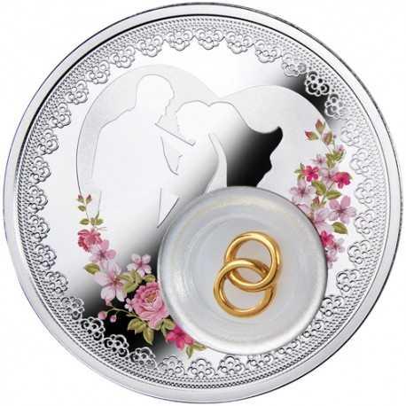 2 Dollar, Wedding Coin in Case