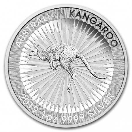 Australian Kangaroo  1 Dollar  1 oz Silver 2019
