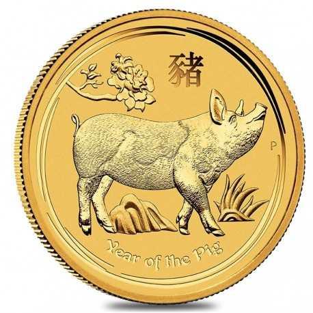 Australia Lunar Pig, 1/2 oz, 2019 Gold