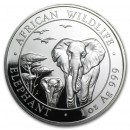 Somalia Elephant   Silver 1 oz 2015