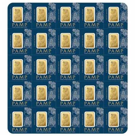 25x1 gr, Fortuna Gold Bar-Pamp