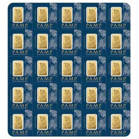 25x1 gr, Fortuna Gold Bar-Pamp
