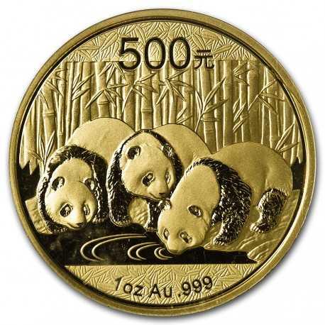 China Panda , 1oz 500 Yuan, Gold 2013