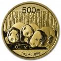 China Panda 1 oz 500 Yuan Gold 2013