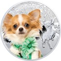 Chihuahua Dog, Silver Coin