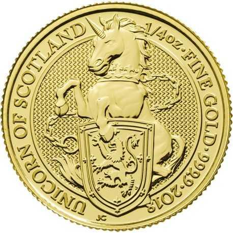 Queen's Beasts Unicorn, 1/4 oz. Gold, 2018