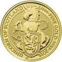 Queen's Beasts Unicorn 1/4 oz 2018 Gold