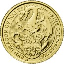 Queen's Beasts Dragon, 1/4 oz. Gold, 2017