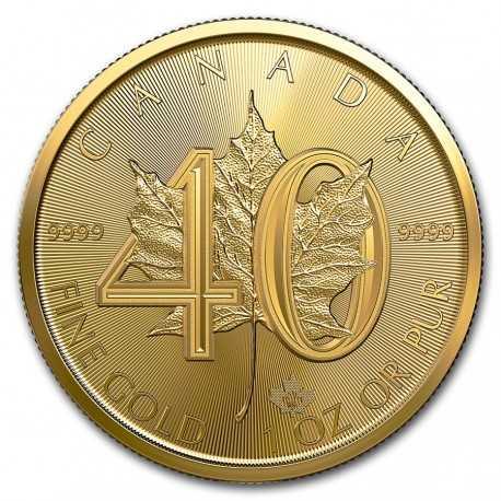 Maple Leaf Gold 2019  Canada  1oz 40th  Anniversary