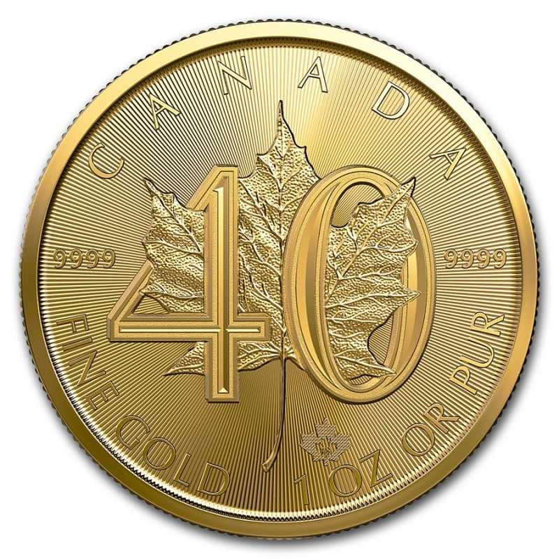 Maple Leaf Gold 2019 Canada 1oz 40th Anniversary