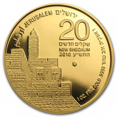 Tower of David Gold Bullion Coin 1oz 2010