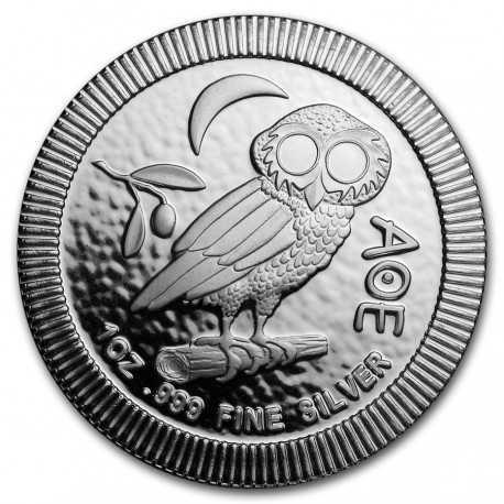Athenian Owl Stackable Coin Niue $2 1 oz Silver 2018