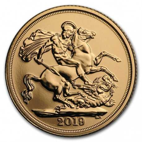 Full Sovereign Elizabeth, Gold, 2019