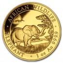Gold Coin Somalia Elephant 1oz 2019