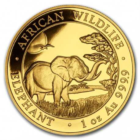 Gold Coin Somalia Elephant 1oz 2019