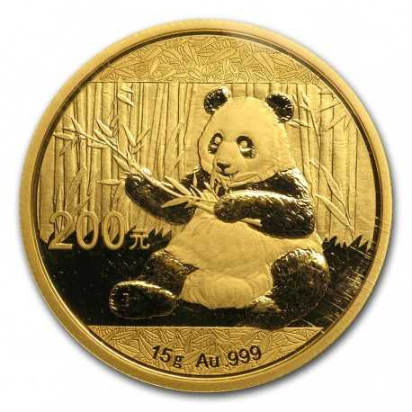 China Panda 15 gr Gold 2019