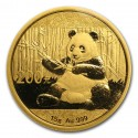 China Panda 15 gr Gold 2017