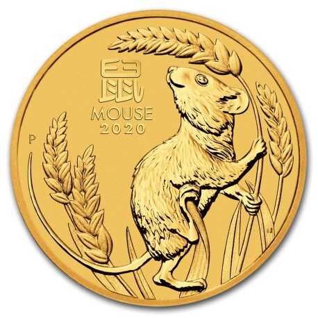 Lunar Mouse 1/20 oz 2020 Gold