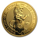 Quenn's Beasts The White Lion 1 oz 2020 Gold