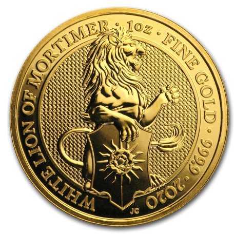 Quenn's Beasts The White Lion 1 oz 2020 Gold
