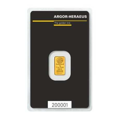 1 gr Argor Heraeus Gold Bar