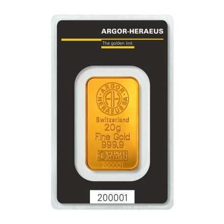 20g Gold Bullion/ Heraeus